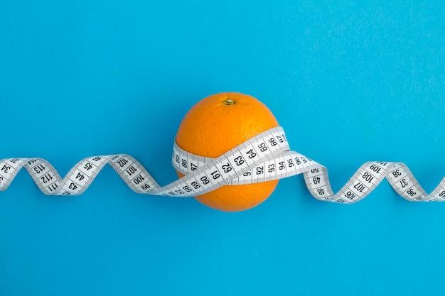 Pomarańczowo-biały Centymetr Premium Zdjęcia