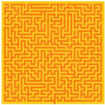 Pomarańczowo żółty labirynt tekstury tła widok z góry