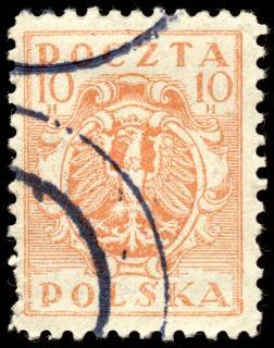 Pomarańczowy eagle crest znaczek