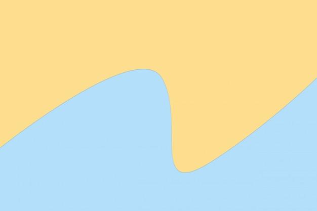 Pomarańczowy i niebieski pastelowy kolor papieru na tle tekstury