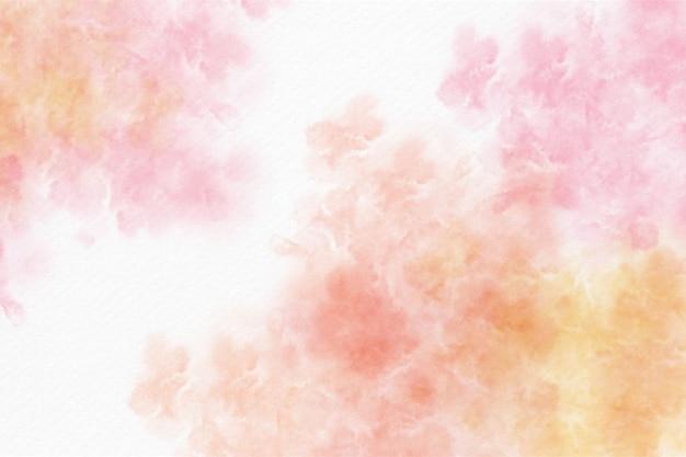 Pomarańczowy i różowy akwarela abstrakcyjne tło