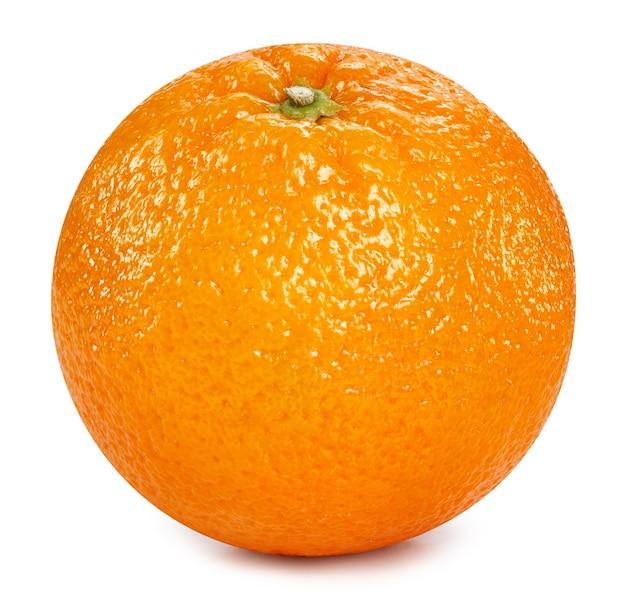 Pomarańczowy owoc na białym tle z bliska