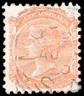 Pomarańczowy queen victoria znaczek courrier