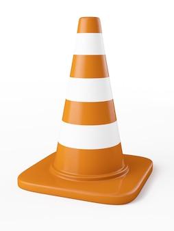 Pomarańczowy stożek ruchu autostrady