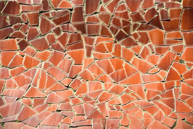 Pomarańczowy wzór mozaiki może być użyty do tła i tekstury