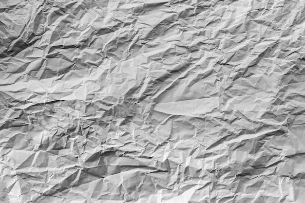 Pomarszczona tekstura papieru, twarde światło