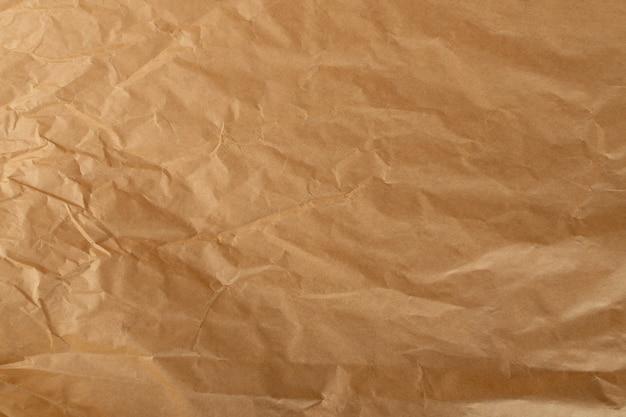 Pomarszczone szczegóły tekstury papieru pakowego