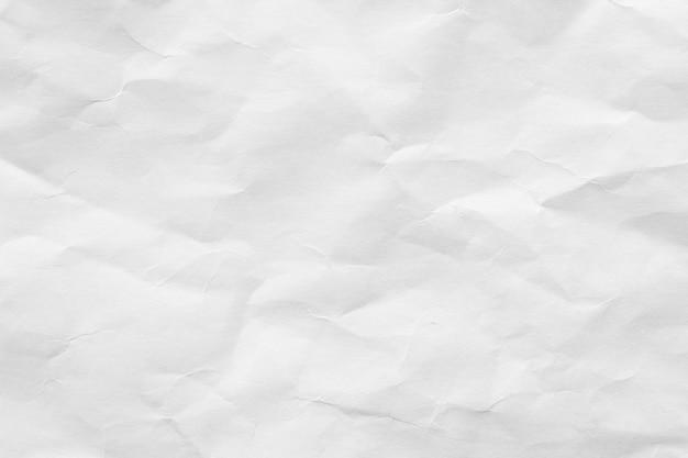 Pomarszczony biały papier tekstury tło