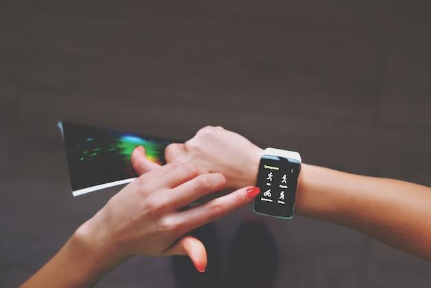 Pomiar impulsu zegara fitness