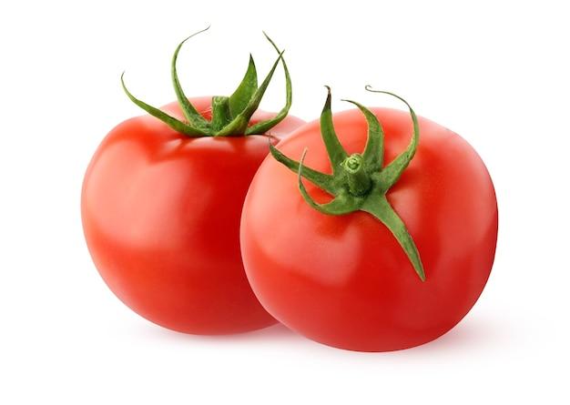 Pomidory na białym tle na białej powierzchni