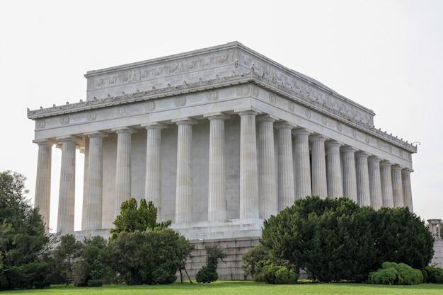 Pomnik abrahama lincolna w waszyngtonie - usa.