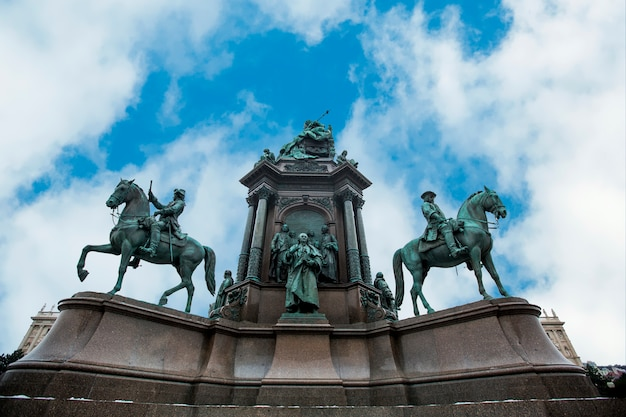 Pomnik cesarzowej marii teresy w wiedniu, austria