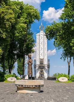 Pomnik pamięci ofiar wielkiego głodu (hołodomor) na ukrainie. kijów