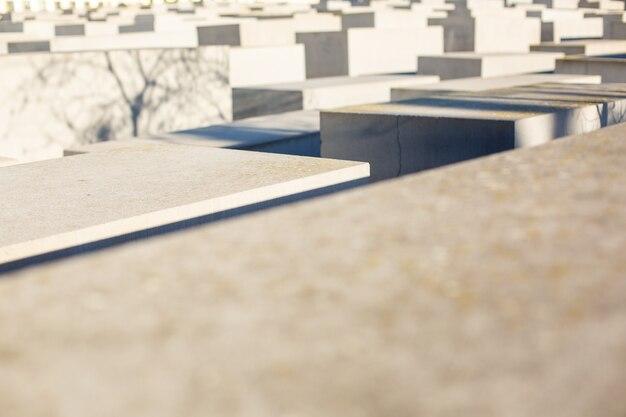 Pomnik pomordowanych żydów europy w berlinie, niemcy, grudzień 2018 r.