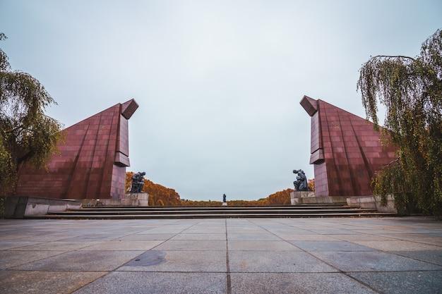 Pomnik wojny radzieckiej w berlinie, niemcy.