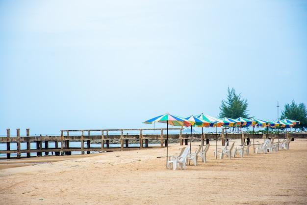 Pomost na plaży