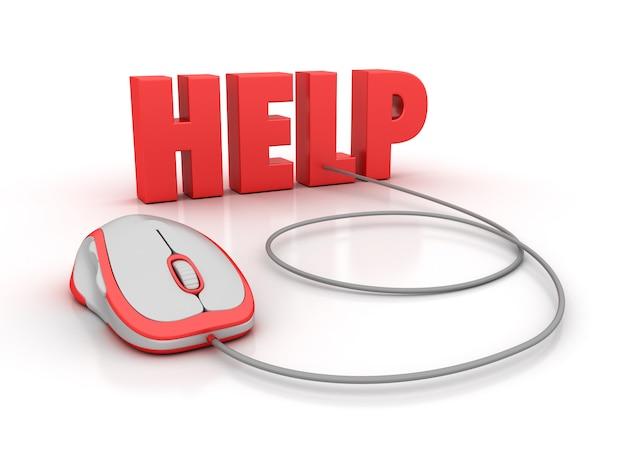Pomóż słowo 3d za pomocą myszy komputerowej