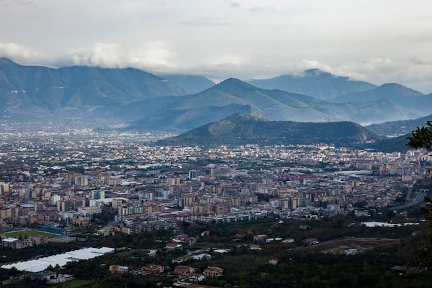 Pompeje i vesuvious wulkan na południe włoch