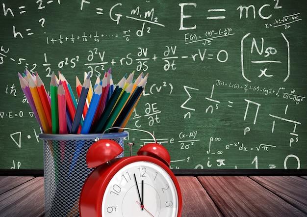 Pomysł drewna piśmiennicze kontemplacyjnej uczeń