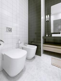 Pomysł na czarno-białą łazienkę