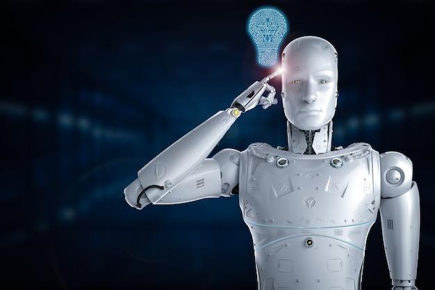 Pomysł na sztuczną inteligencję renderowania 3d z cyfrową żarówką