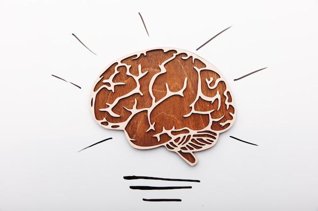 Pomysł rozwiązanie koncepcja mózg jako żarówka