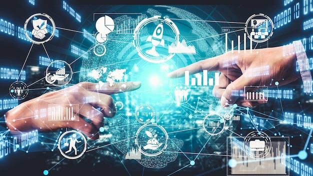 Pomysłowa wizualizacja innowacji biznesowych i kreatywności