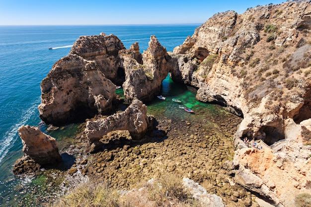 Ponta da piedade w lagos, region algarve w portugalii