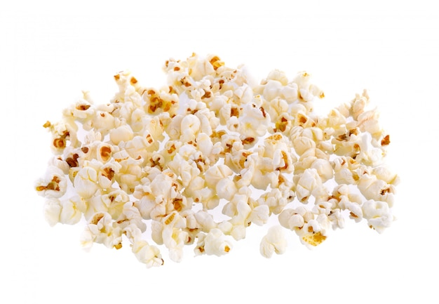 Popcorn na białej ścianie