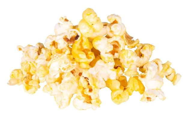 Popcorn na białym tle.