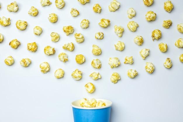 Popcorn słodkie tło