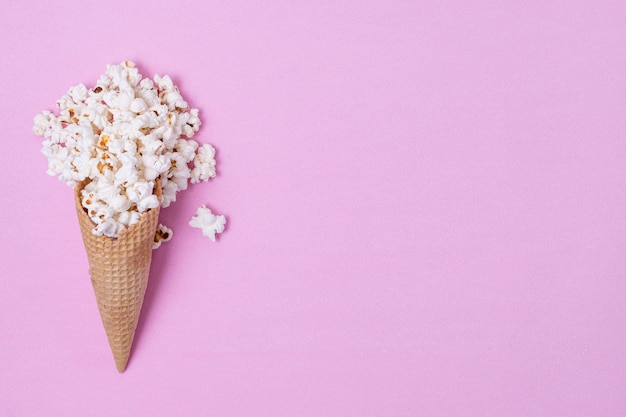 Popcorn w lody z miejsca kopiowania