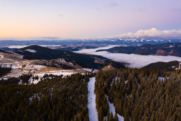Poranek w górach.