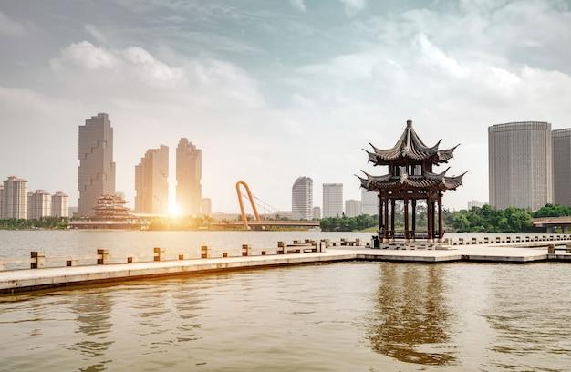 Porcelanowy hangzhou zachodni jezioro krajobraz