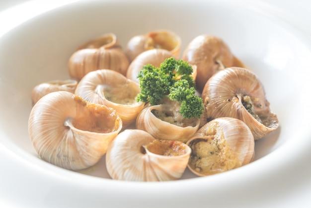 Porcja gotowanych ślimaków
