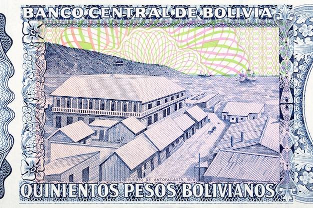 Port antofagasta ze starych boliwijskich pieniędzy?