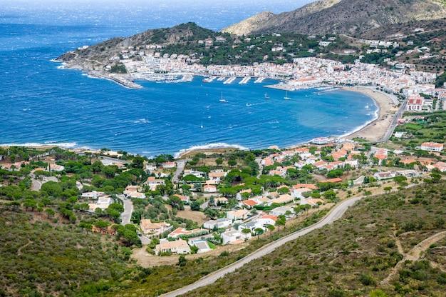 Port costa brava w gironie, katalonia, hiszpania