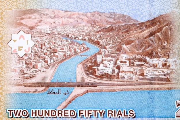 Port morski al mukalla z jemeńskich pieniędzy