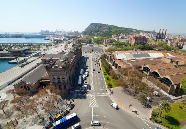 Port vell. barcelona, hiszpania