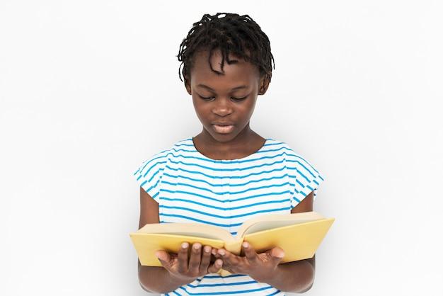 Portarit młodej african american girl