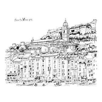 Porto venere, la spezia, liguria, włochy