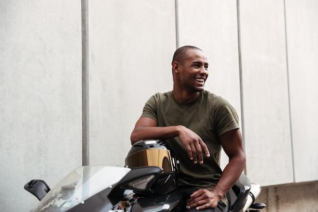 Portret afro amerykańskiego mężczyzny