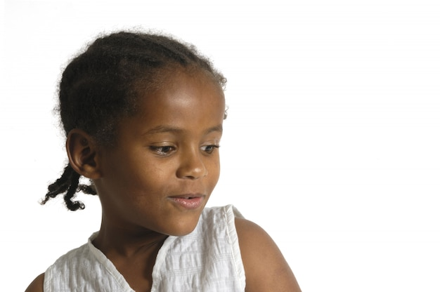 Portret afrykańska młoda dziewczyna