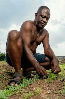 Portret afrykańskiego starszego mężczyzny