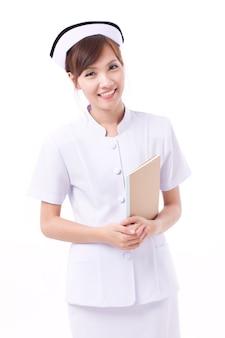 Portret azjatyckiej kobiety pielęgniarki