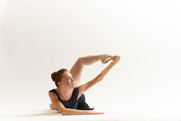Portret baleriny piękny taniec