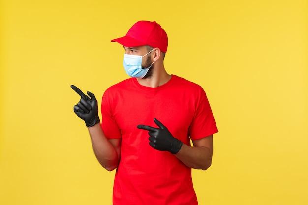 Portret doręczeniowy mężczyzna z twarzy maską