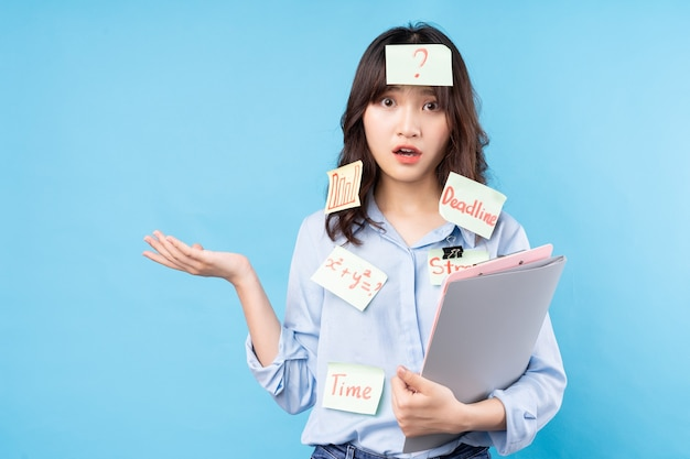 Portret dziewczyny studentka