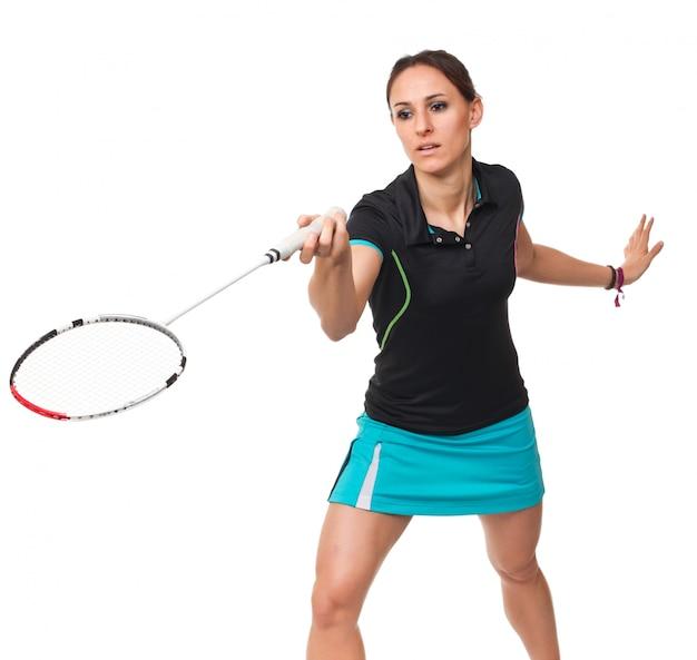 Portret gracza badmintona