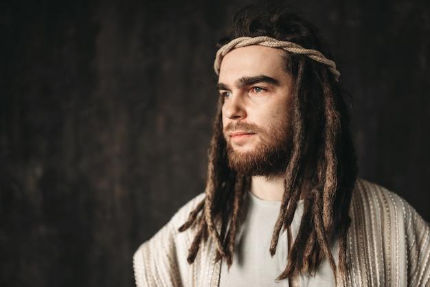Portret jezusa chrystusa. wiara chrześcijańska, synu boga